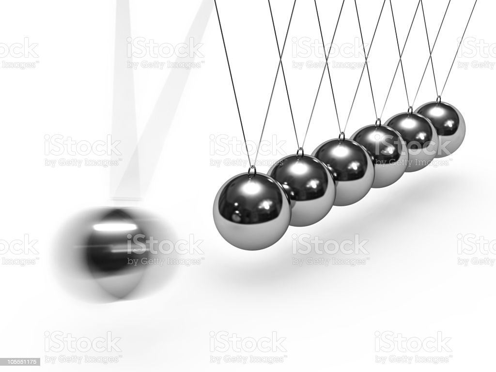 Balancing balls Newton's cradle royalty-free stock photo