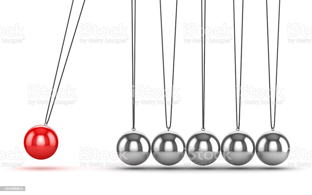 Balancing Balls Newtons Cradle stock photo