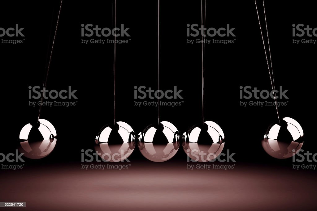 Balancing balls Newton's cradle (high resolution 3D image) stock photo