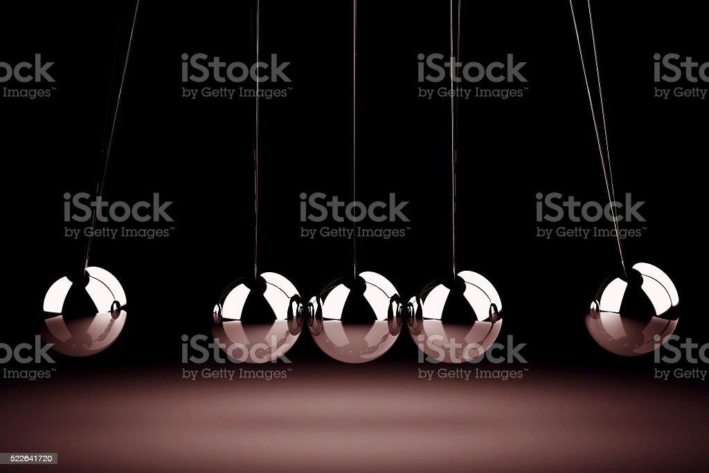 Balancing balls Newton's cradle (high resolution 3D image) stock photo