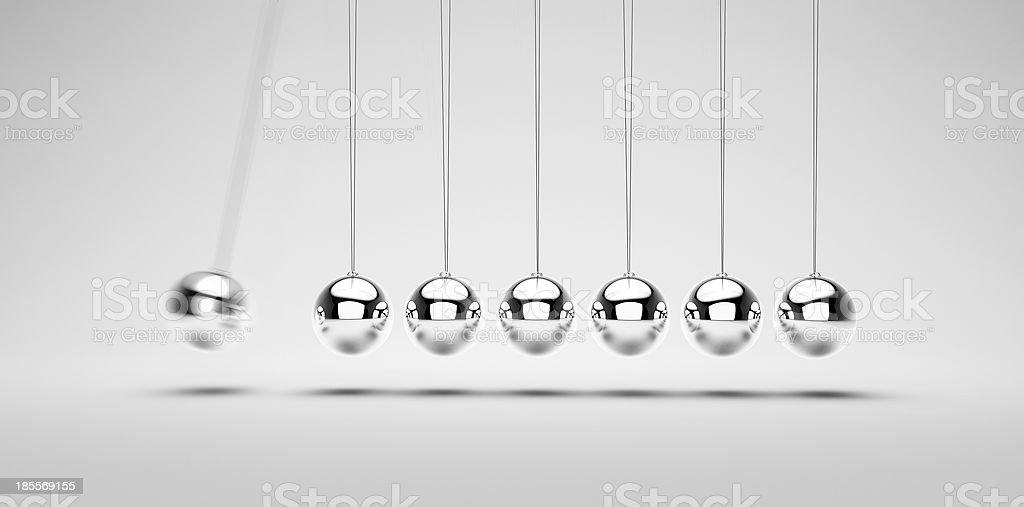 Balancing balls stock photo