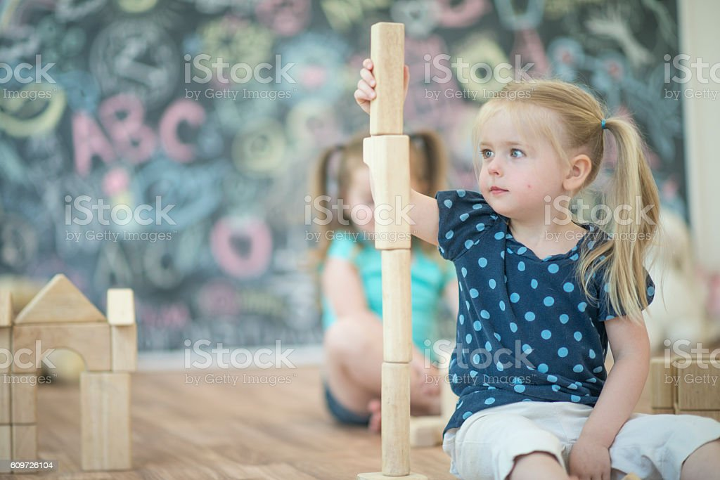 Balancing Blocks stock photo