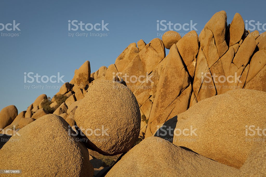Balancing boulders in Joshua Tree National Park royalty-free stock photo