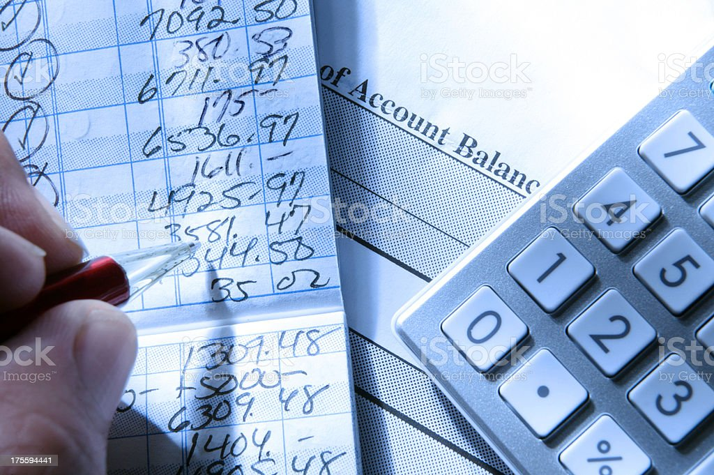 Balancing Checkbook stock photo