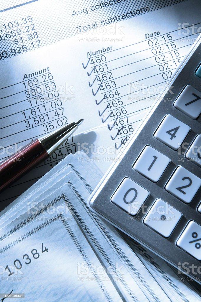 Balancing Checkbook royalty-free stock photo