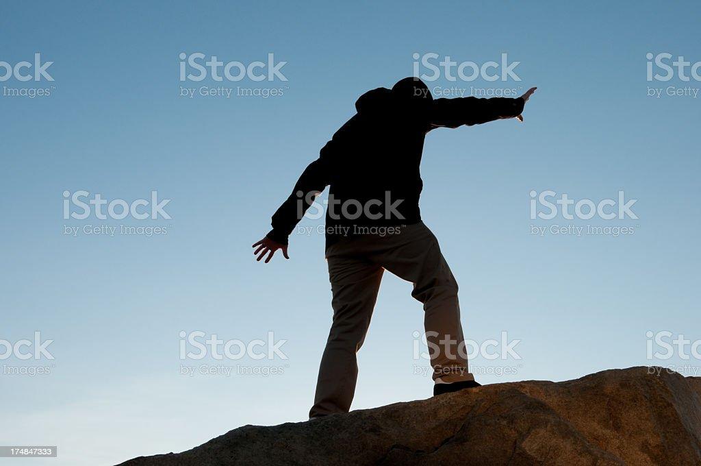 Balancing Man stock photo
