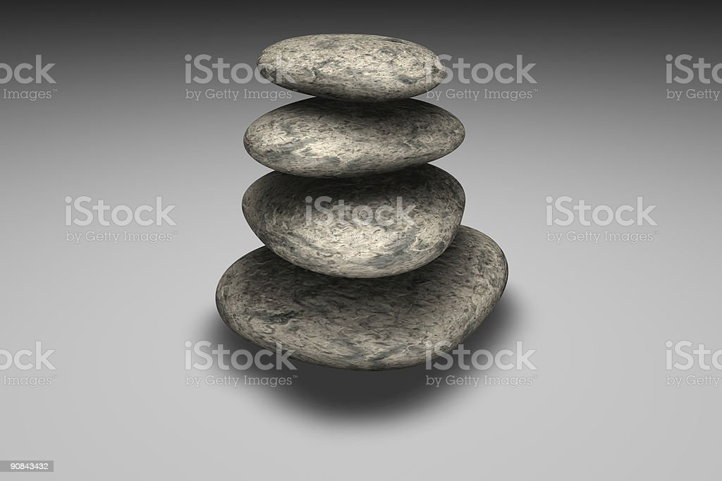 Balancing of rocks royalty-free stock photo