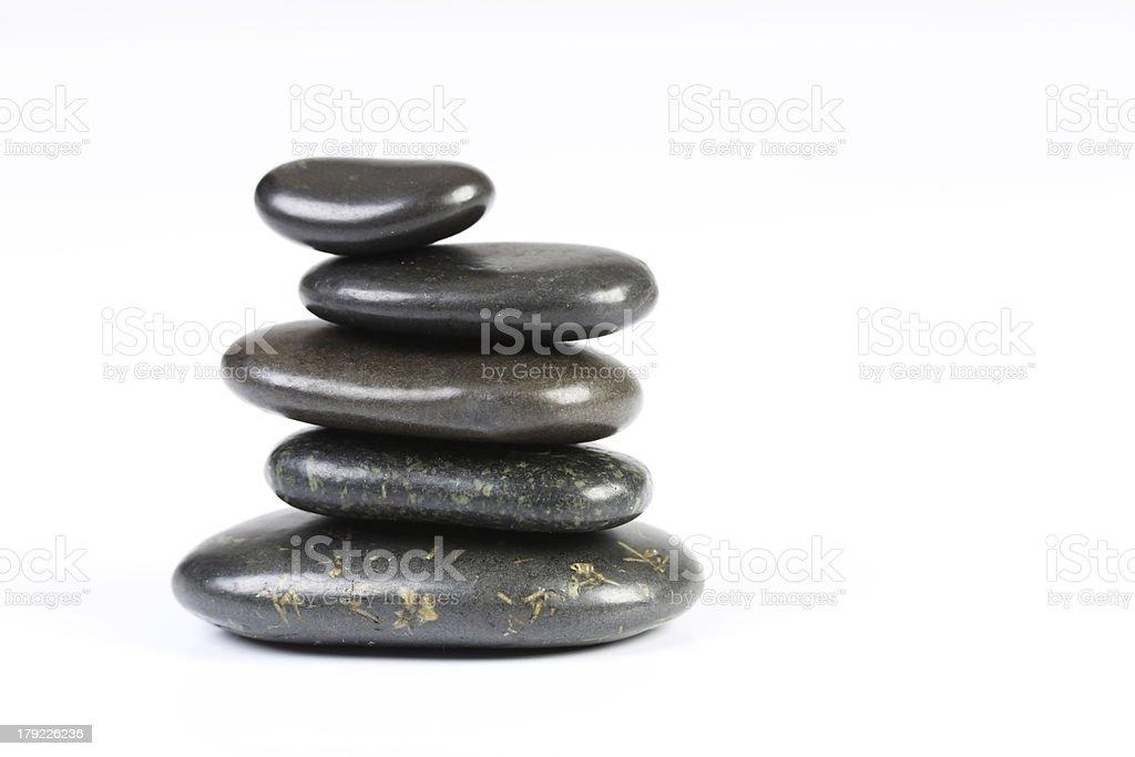 Balancing rocks on white background stock photo