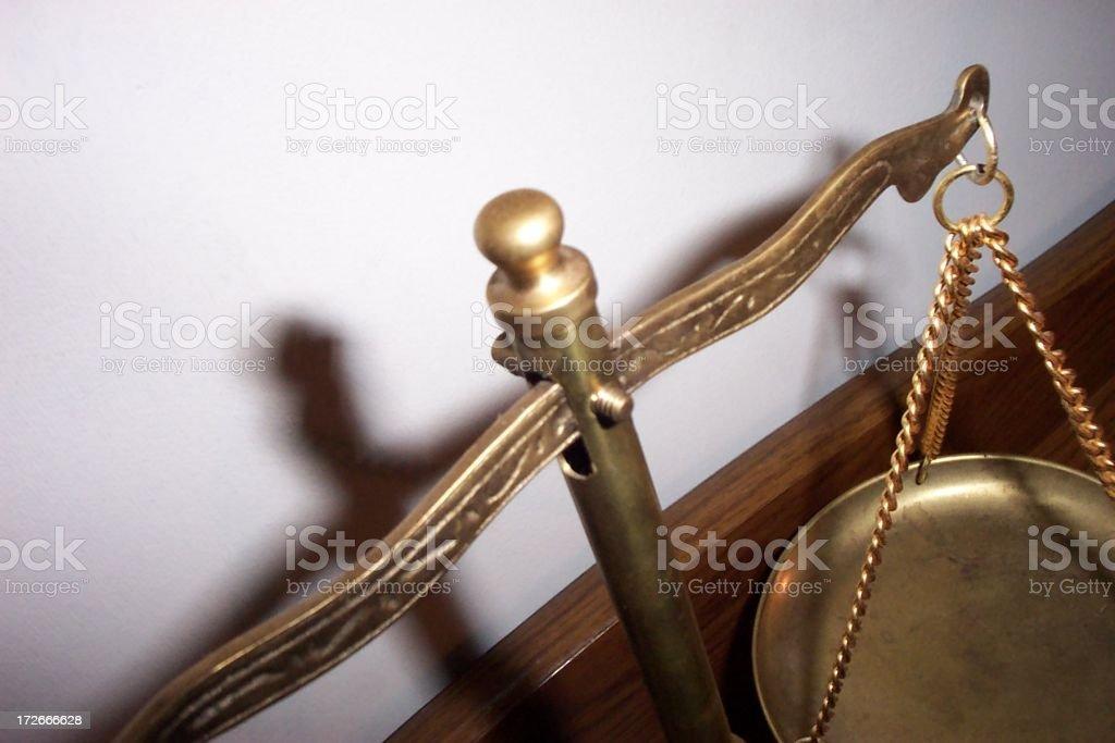 Balancing Scale - Close Up royalty-free stock photo