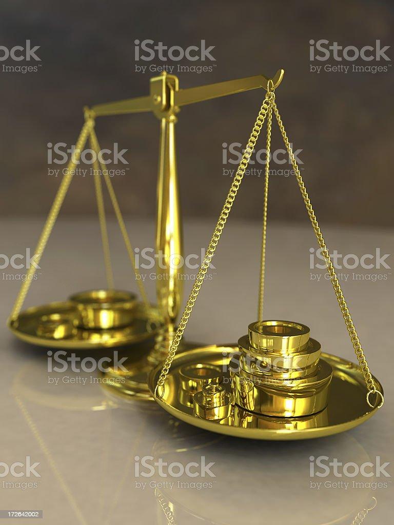 Balancing Scales royalty-free stock photo