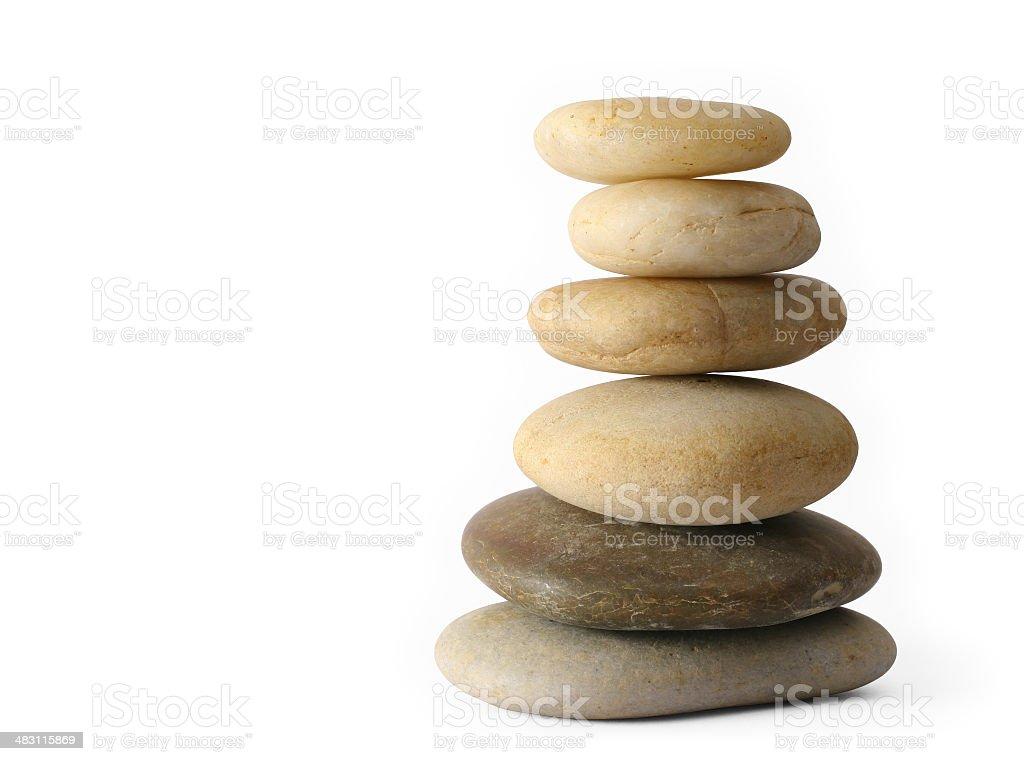 Balancing Stones (Isolated on White Background) royalty-free stock photo