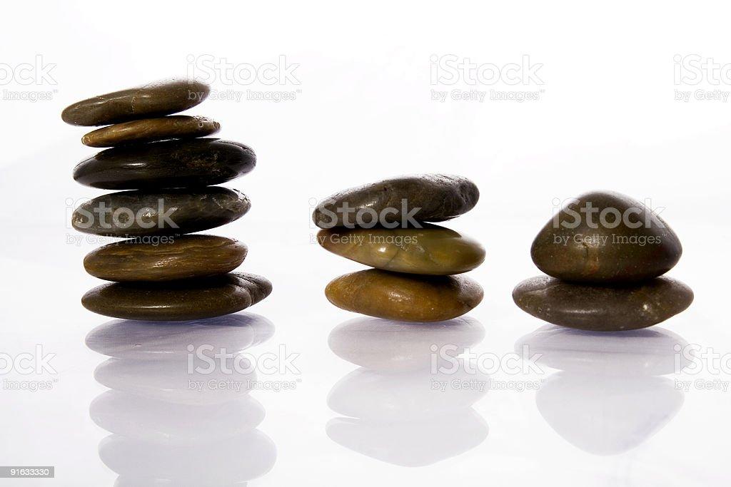 Balancing stones royalty-free stock photo