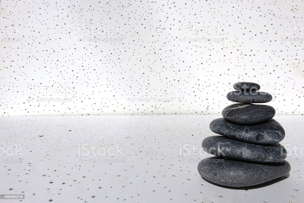 Balancing stones with clipping path stock photo