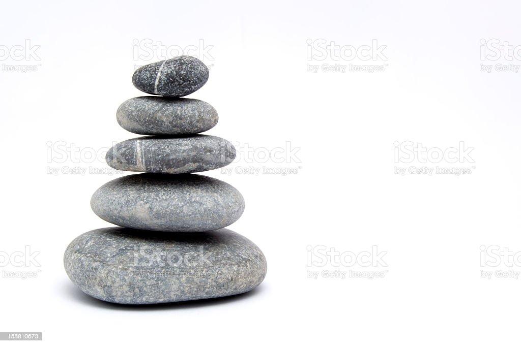 Balancing Stones,Balanced Pebbles ,Zen royalty-free stock photo