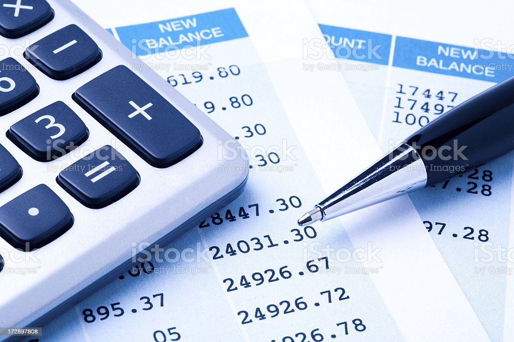 Balancing the Accounts stock photo