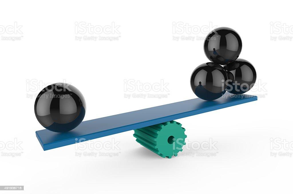 Balancing Variables stock photo