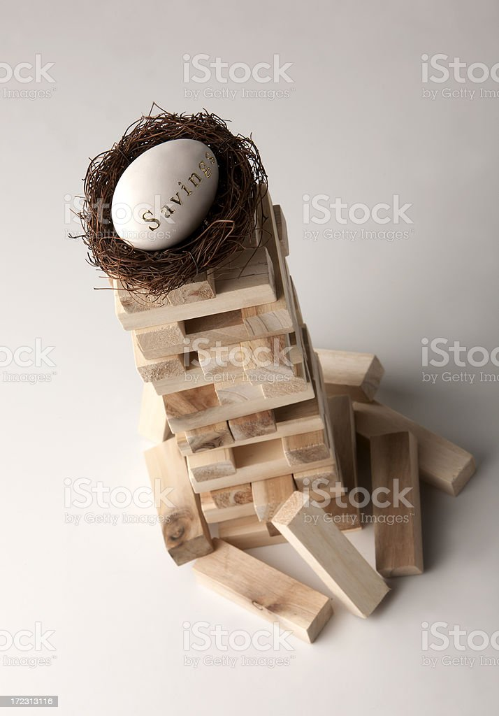 Balancing your retirement fund royalty-free stock photo