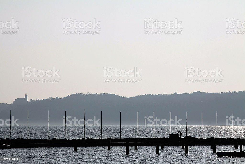 Balaton backlighted stock photo