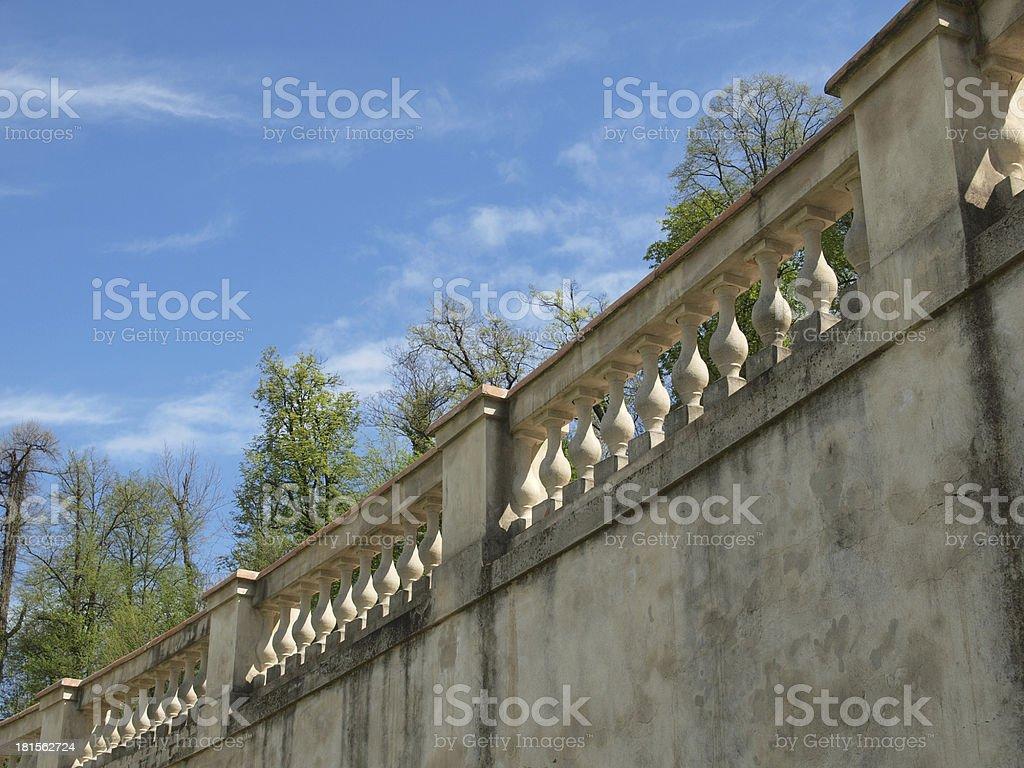 Balaustrade stock photo