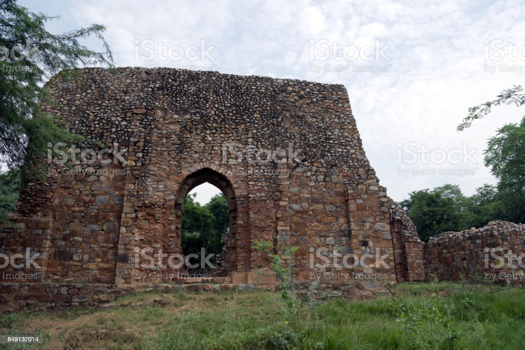 Balban's Tomb at Mehrauli Archaeological Park, New Delhi stock photo