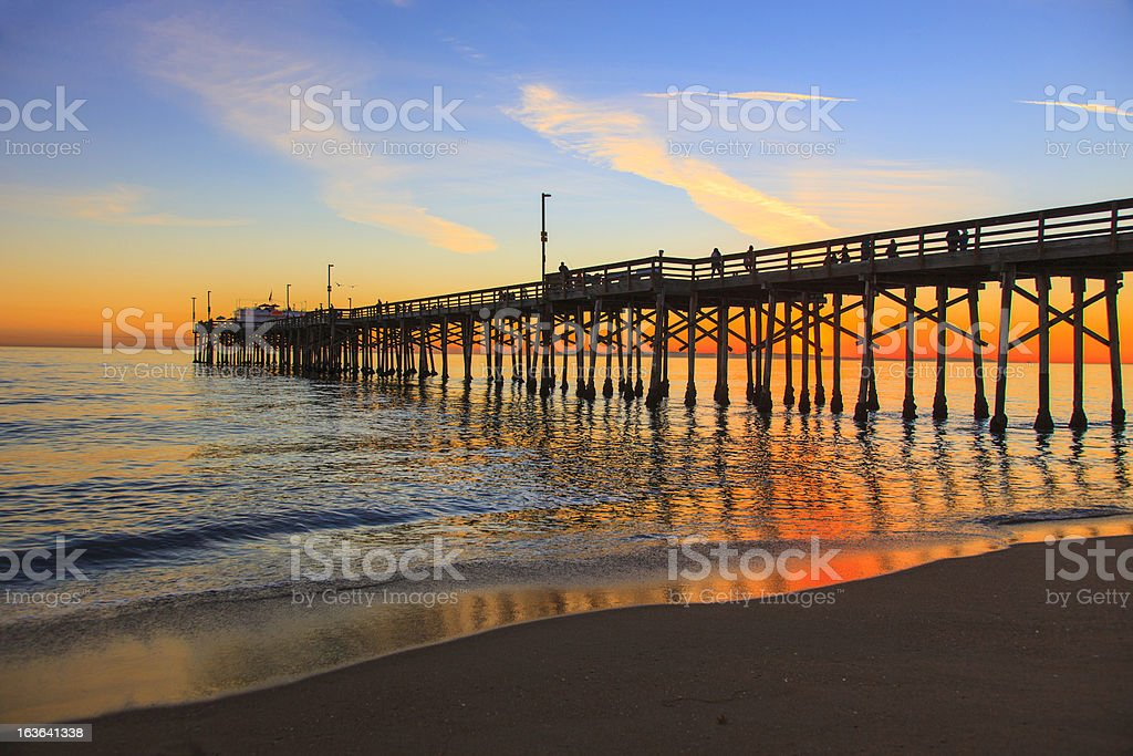Balboa Pier, Orange County California stock photo