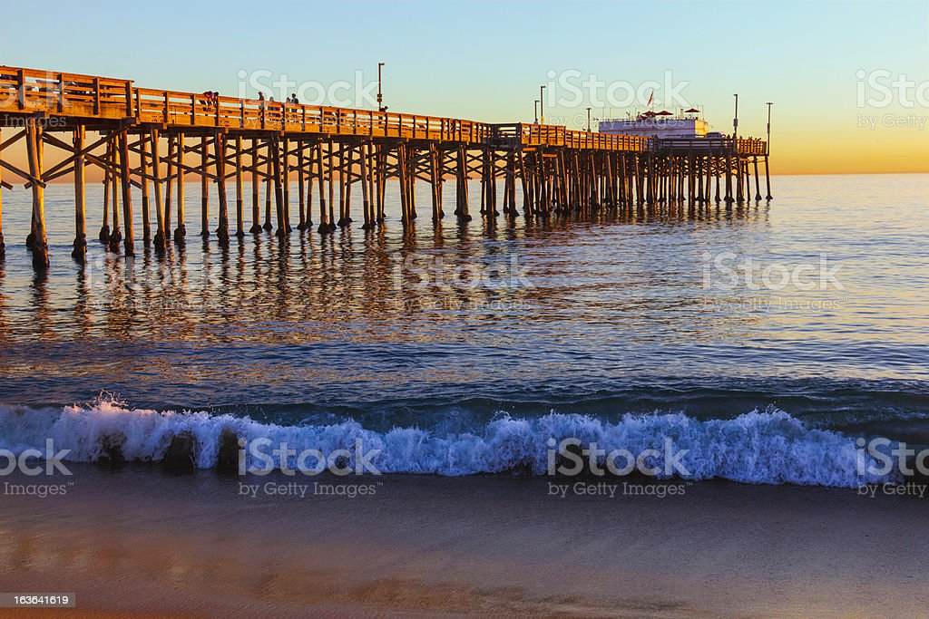 Balboa Pier, Orange County California (P) royalty-free stock photo
