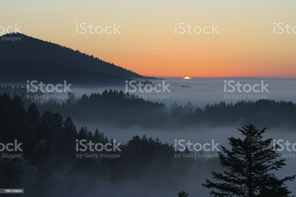 balck forest sunset royalty-free stock photo