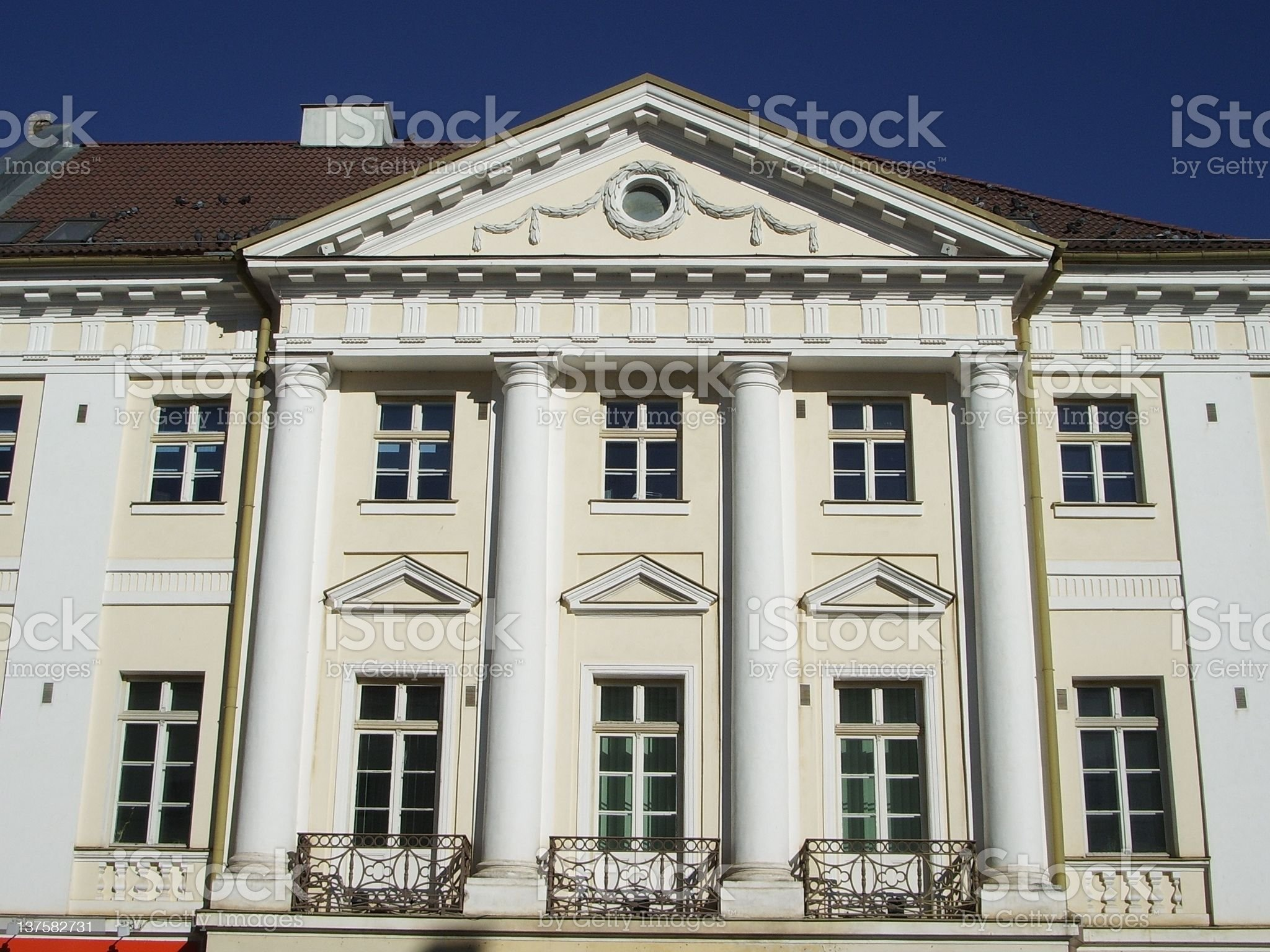 Balconied building royalty-free stock photo
