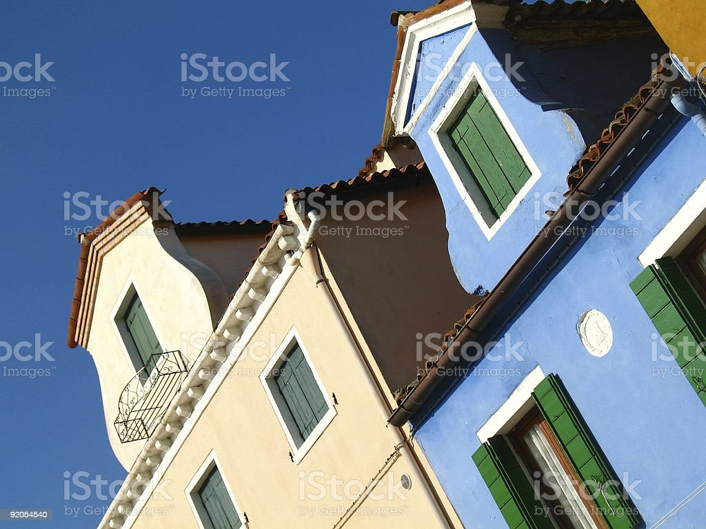 Balconies and windows royalty-free stock photo