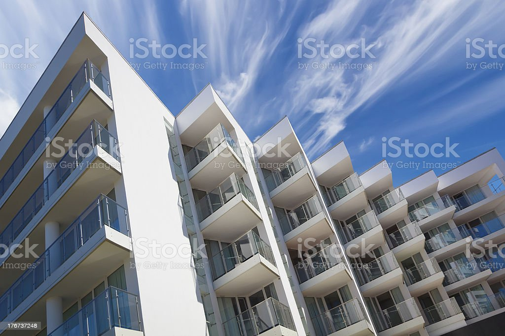 Balconies in a modern apartment house royalty-free stock photo