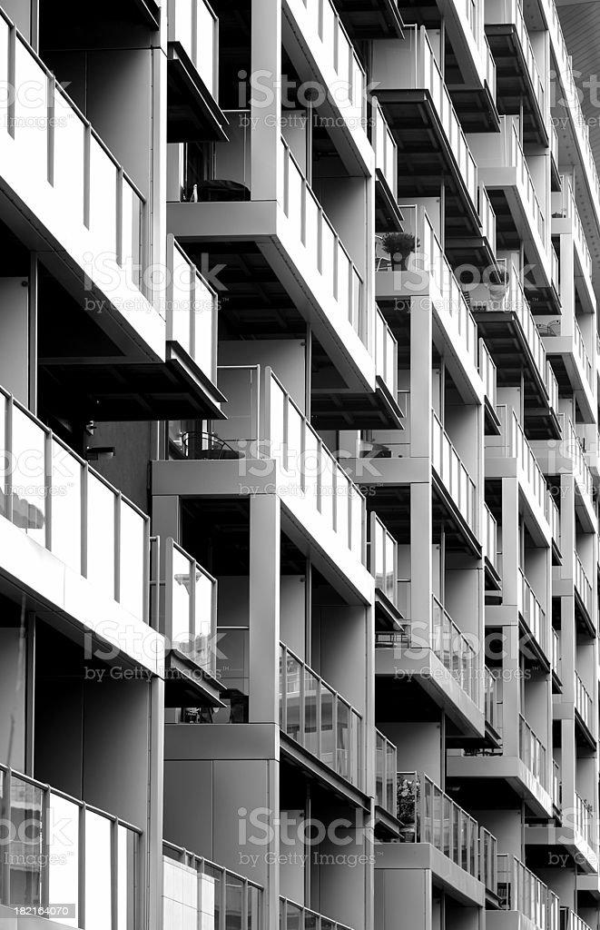Balconies in Battersea royalty-free stock photo