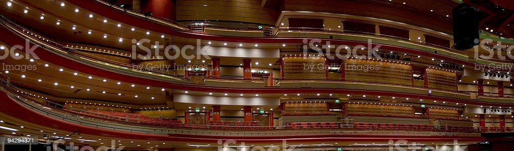 Balconies in concert hall royalty-free stock photo