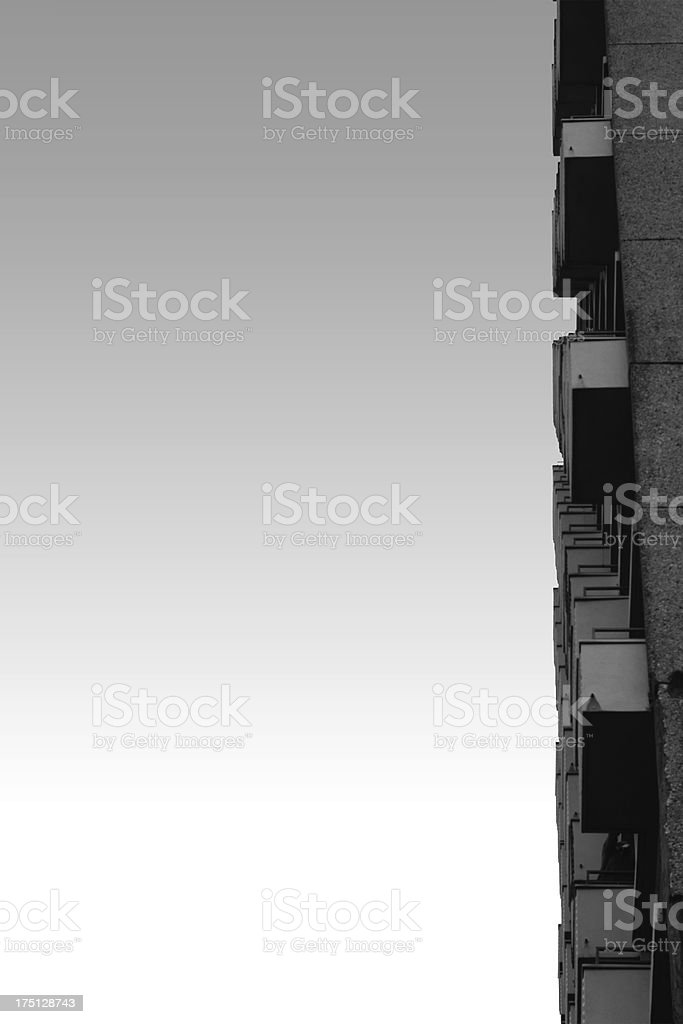 Balconies in series royalty-free stock photo