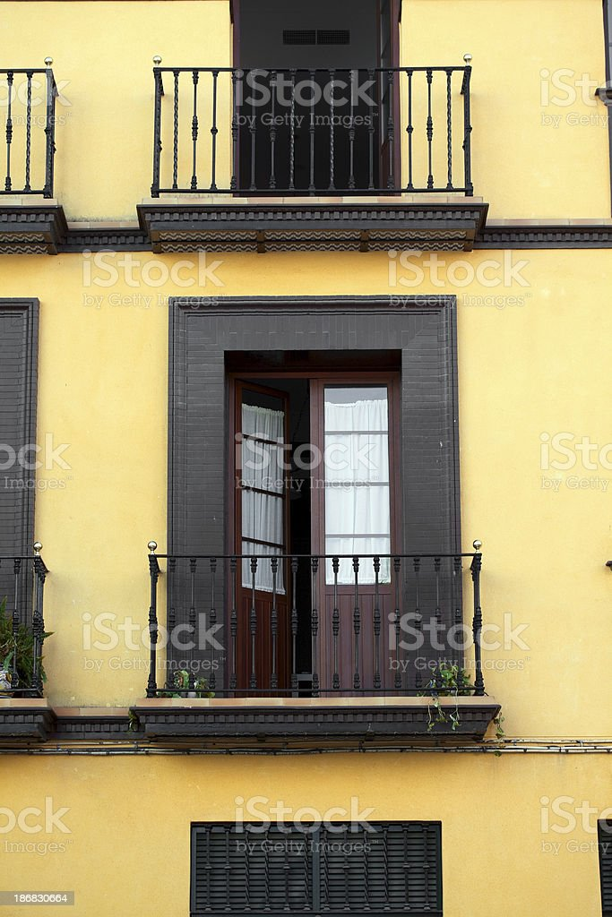 Balconies in Seville royalty-free stock photo