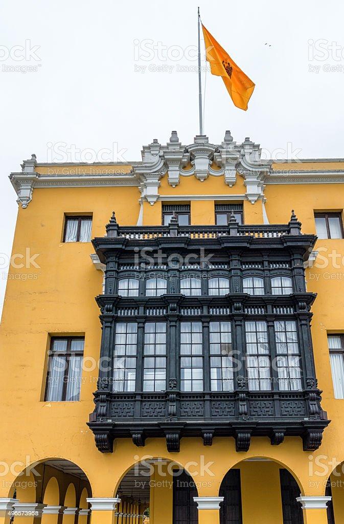 Balconies of Lima stock photo