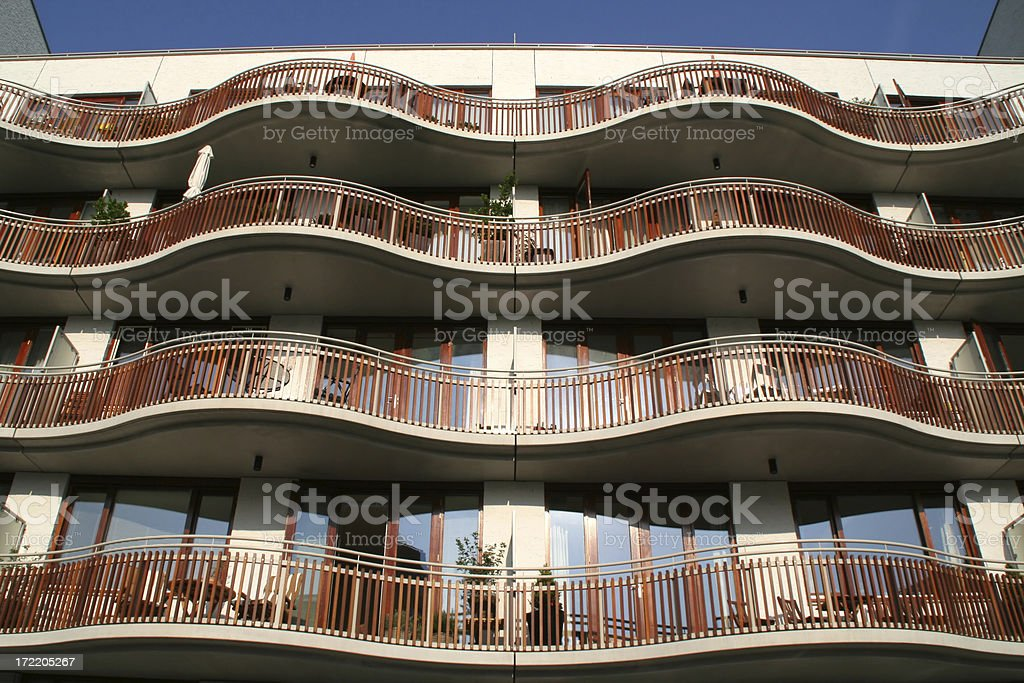 Balconies of new apartments # 1 royalty-free stock photo