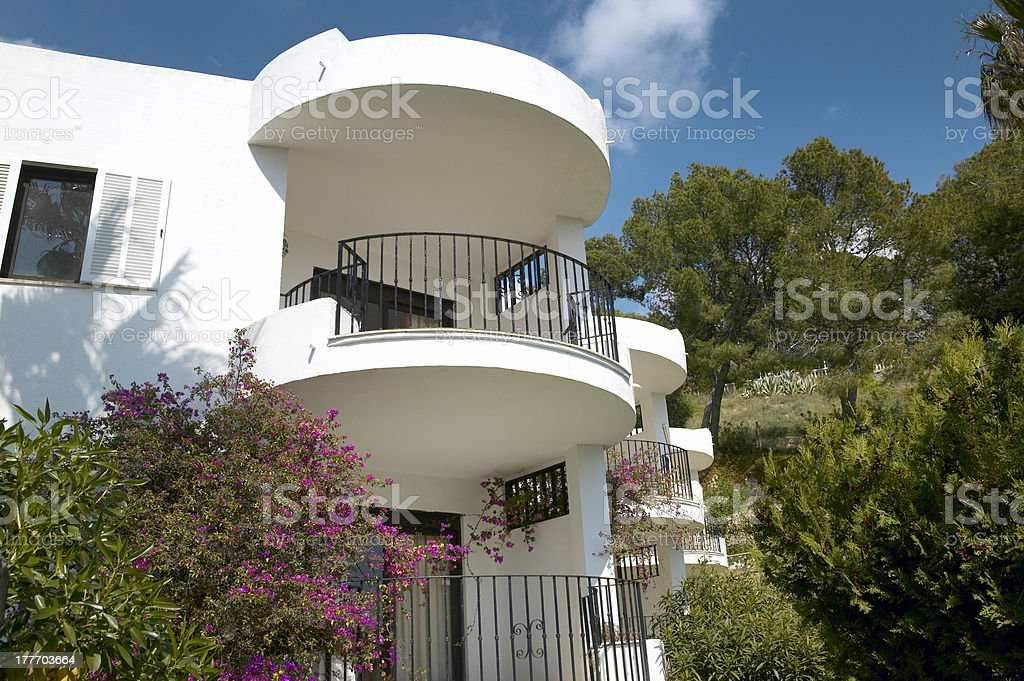 Balconies of Residential building royalty-free stock photo