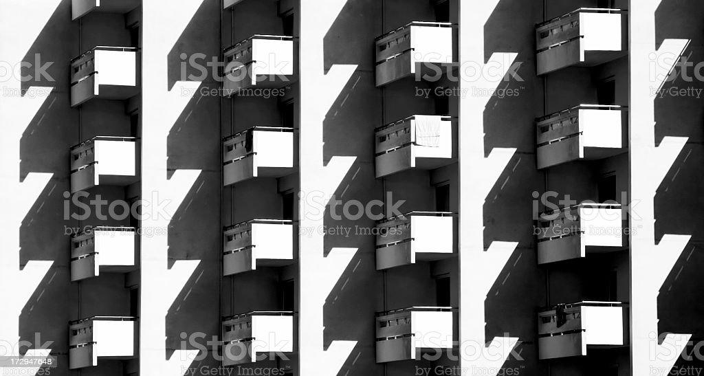 Balconies royalty-free stock photo