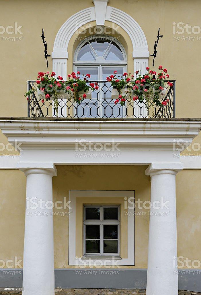 Balcony and window of of Rundale palace stock photo