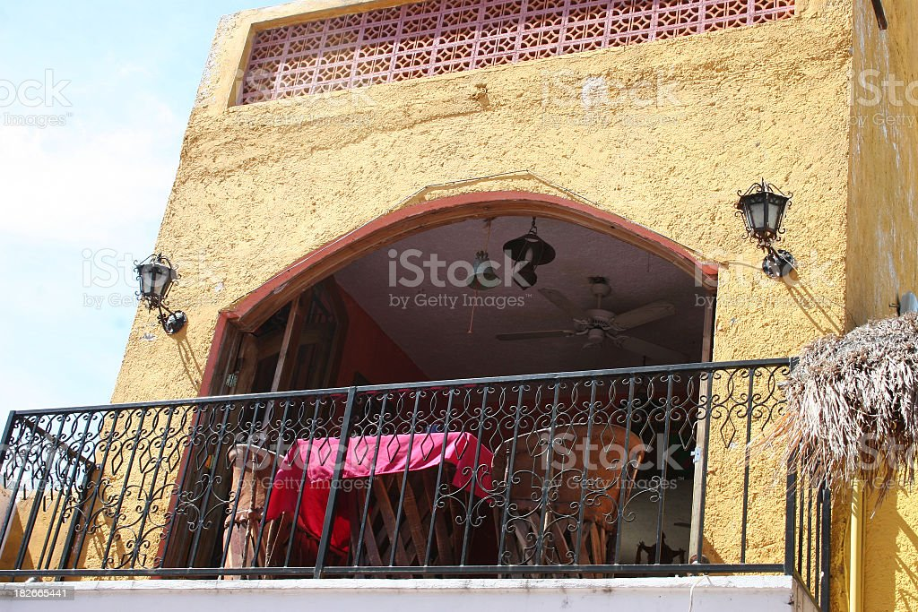 Balcony at the Hacienda royalty-free stock photo