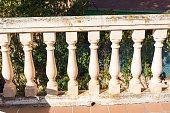 Balcony columns of stone columns