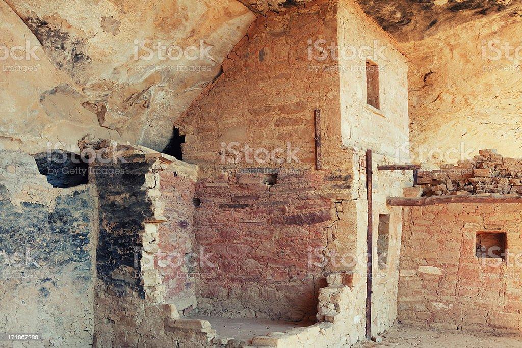 Balcony House Ruins - Mesa Verde National Park, Colorado royalty-free stock photo