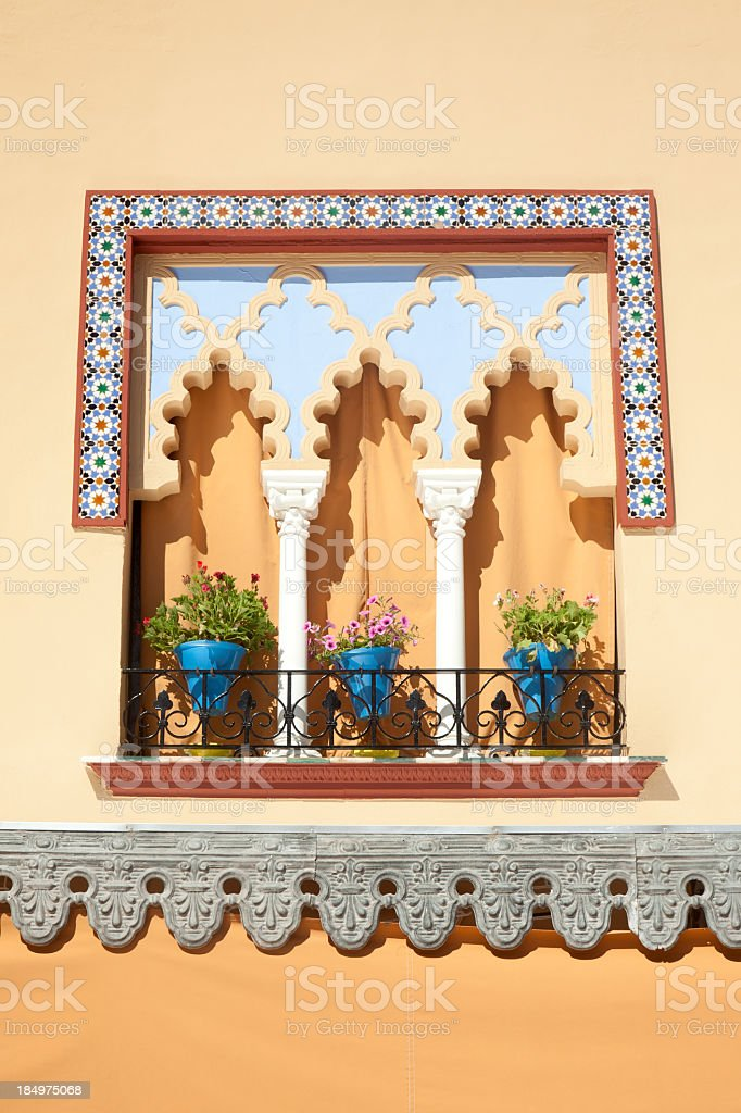 Balcony in Andalusia royalty-free stock photo