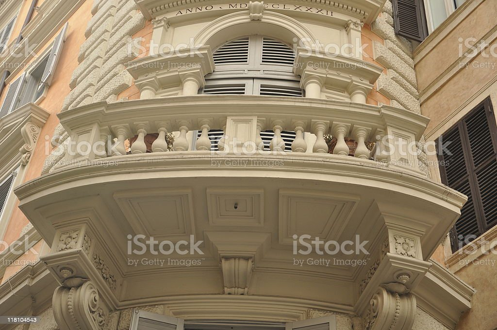 Balcony in Rome stock photo
