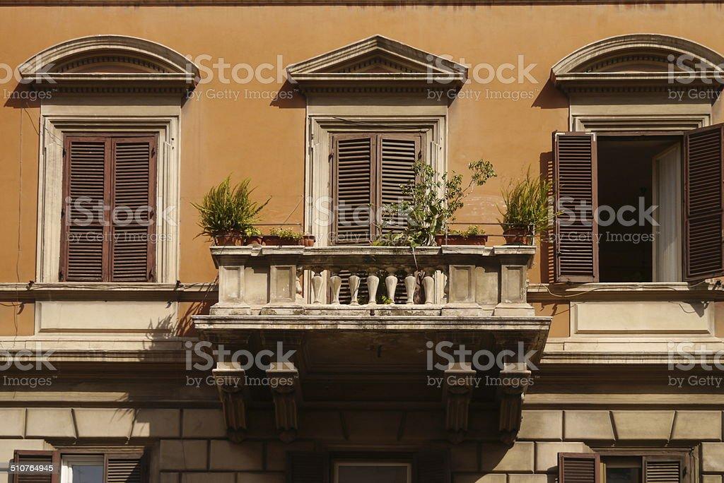 Balcony in the summer heat stock photo