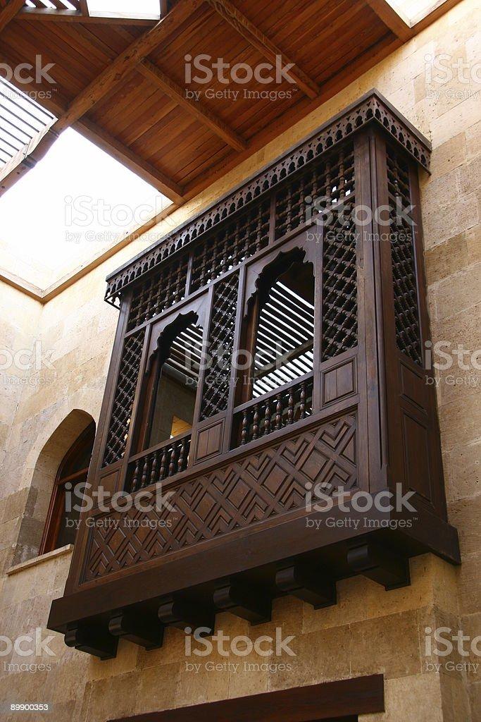 Balcony islamic style royalty-free stock photo