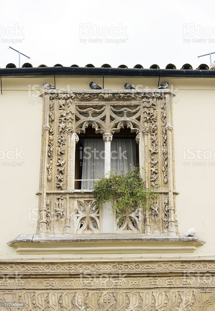 Balcony of an old house stock photo