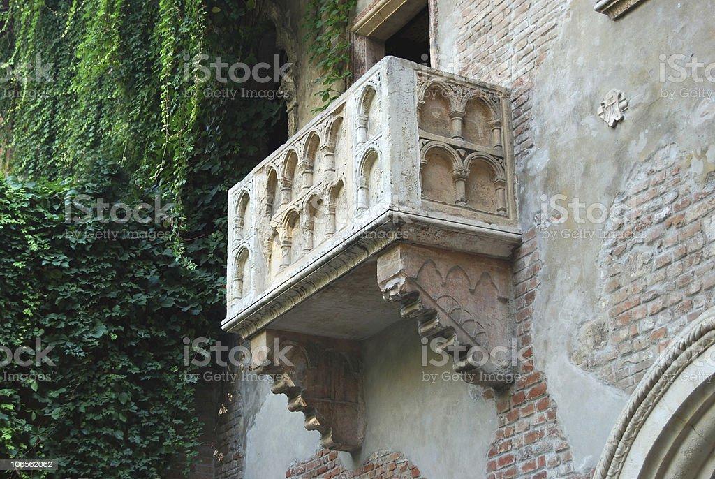 Balcony of Juliet in Verona, Italy royalty-free stock photo