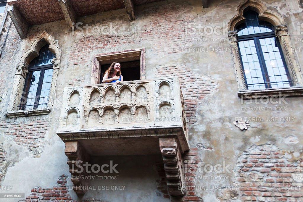 balcony of Juliet in Verona, Italy stock photo