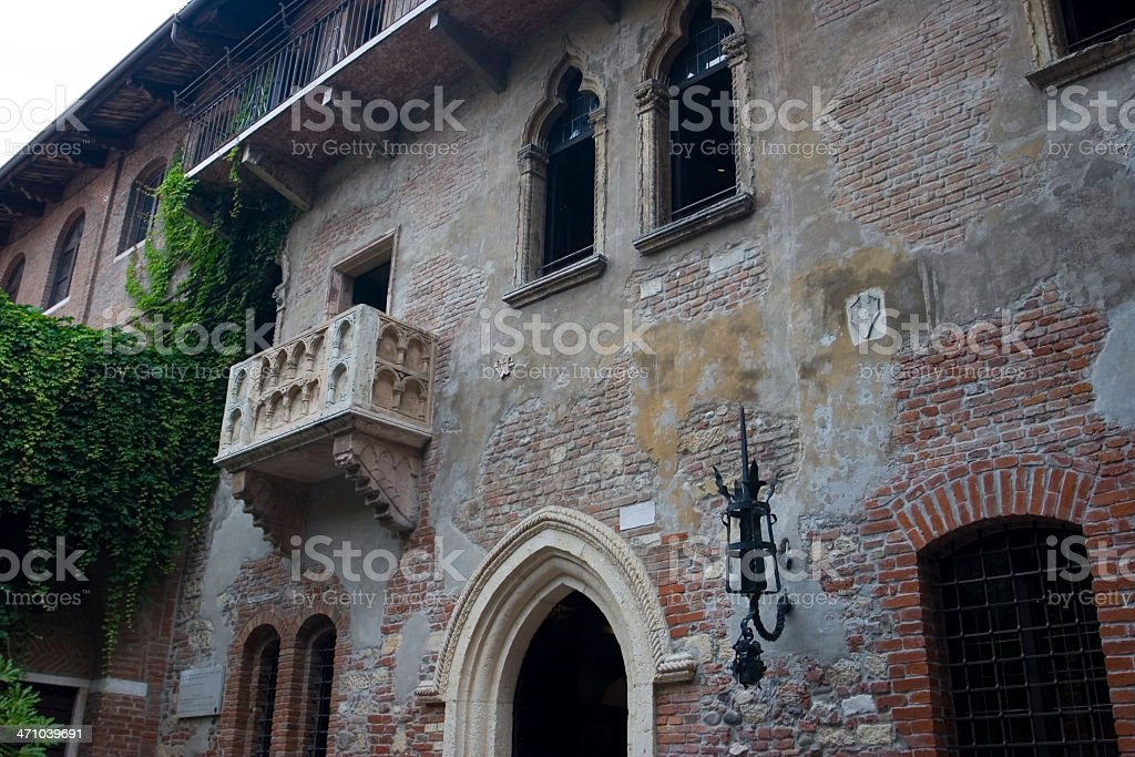 Balcony of Juliet royalty-free stock photo